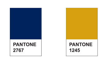 Pantone colors for print and product collateral