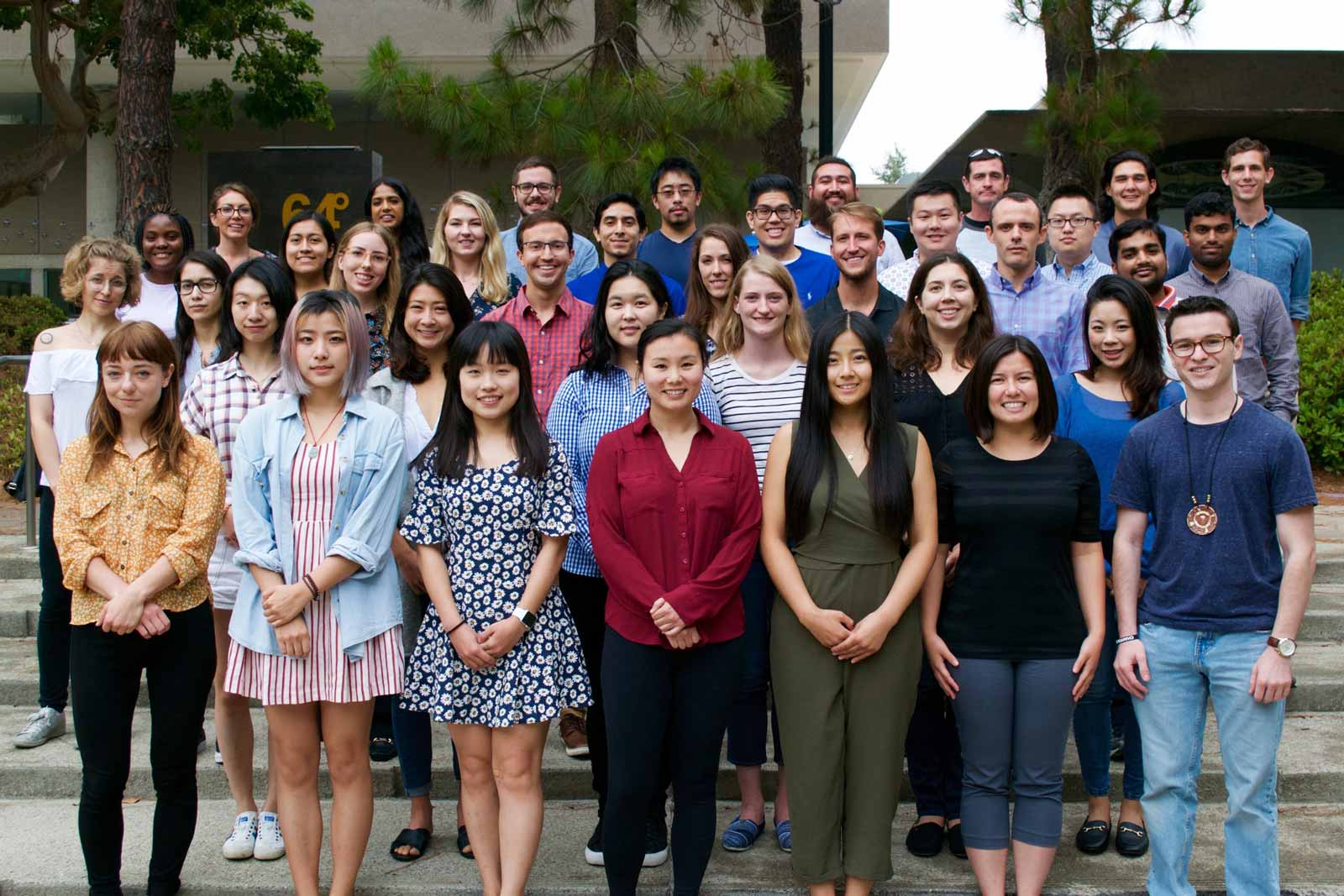 group photo of incoming doctoral candidates