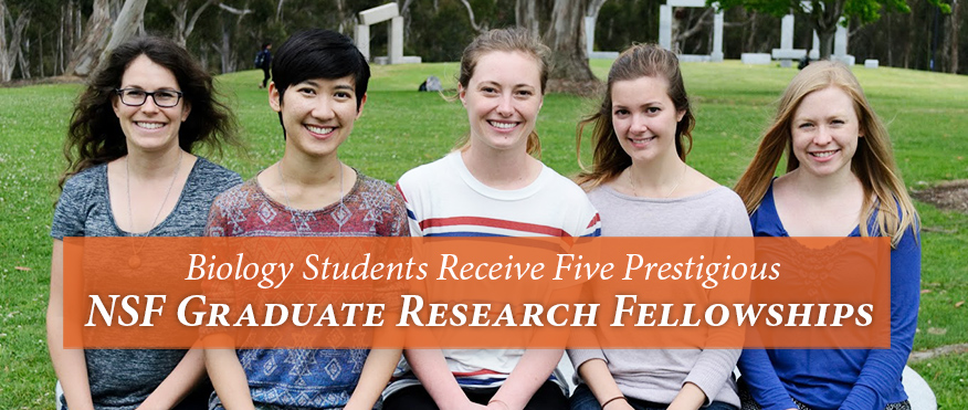 Biology Students Receive Five Prestigious NSF Graduate Research Fellowships