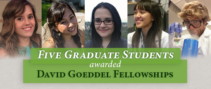 Five Graduate Students Awarded David Goeddel Fellowships