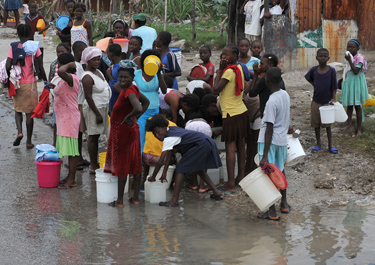 Cholera epidemic in Haiti