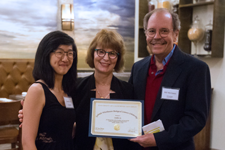 Candice Sy with Gabriele Wienhausen and Dean Bill McGinnis