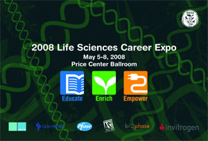 2008 Life Sciences Career Expo flyer