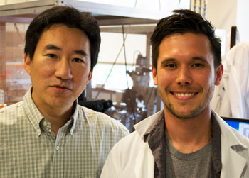 Photo of Byungkook Lim and Daniel Knowland standing side by side and smiling at camera.
